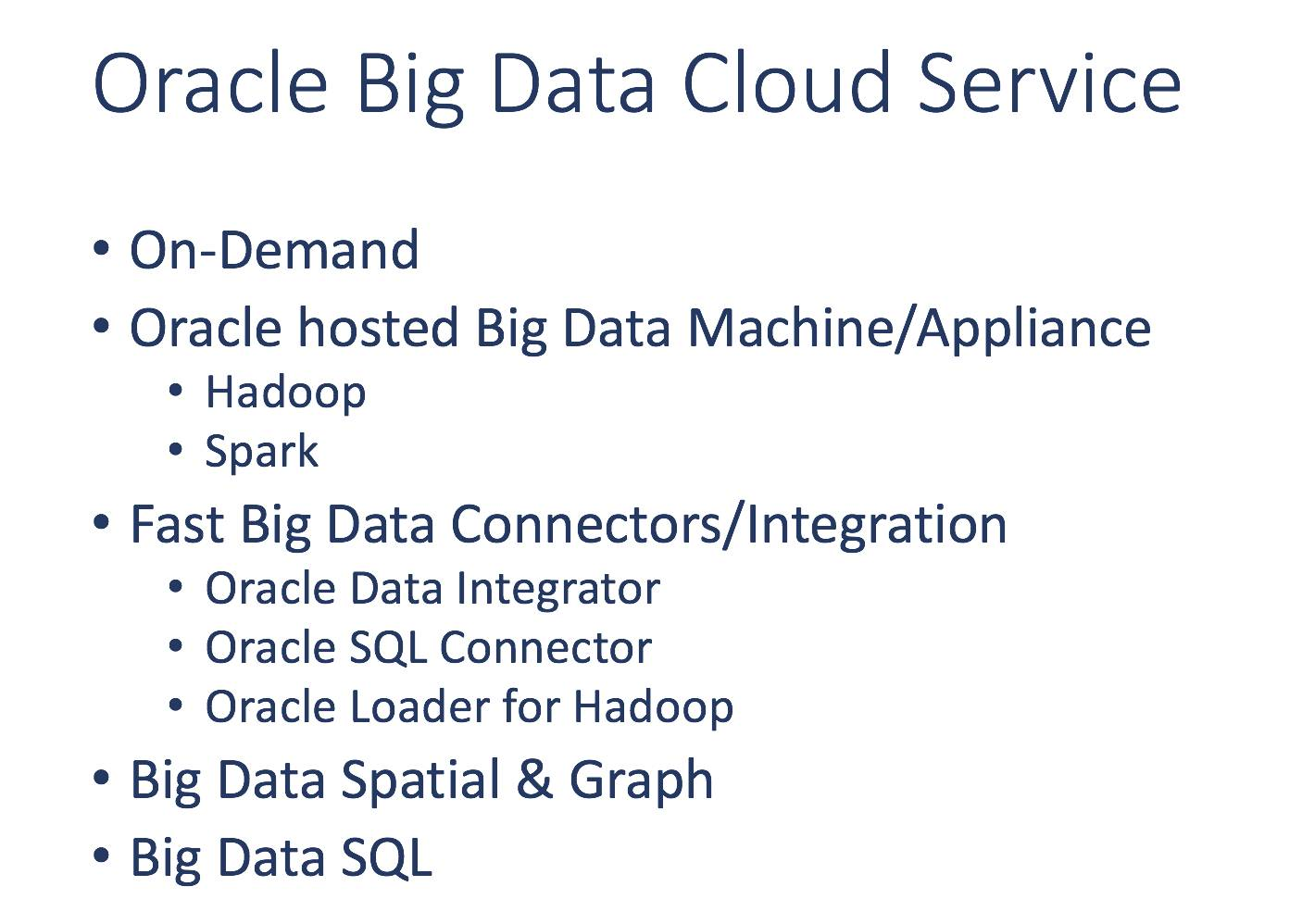 Oracle Big Data Cloud